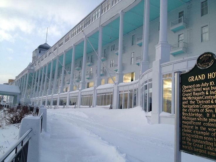 The Grand Hotel, Mackinac Island, in it's winter blanket of snow.  Sleeping, waiting for spring.