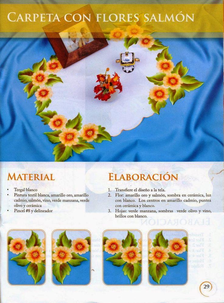 Como pintar flores en tela -revista gratis - Cursos y tutoriales para manualidades