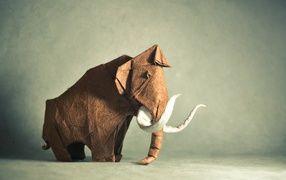 Слон из бумаги, оригами