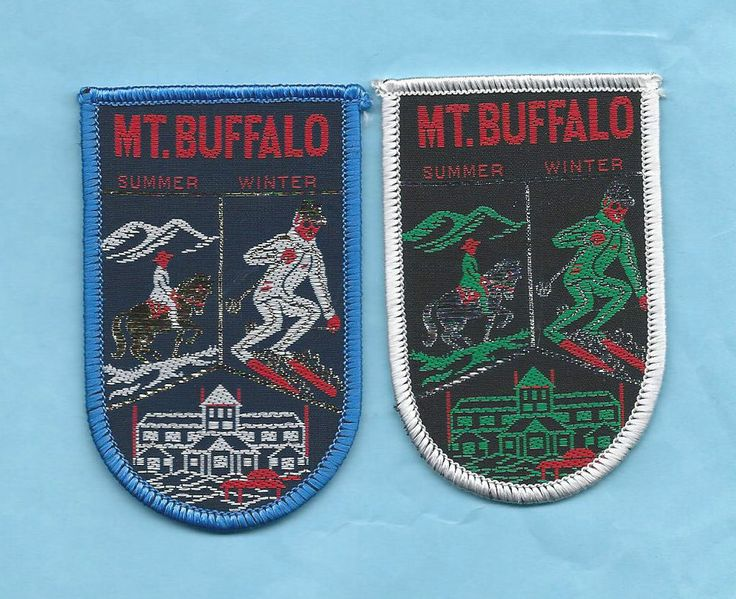 Nice pair of MT. BUFFALO SUMMER/WINTER Patches - sold for $14.28 on ebay.