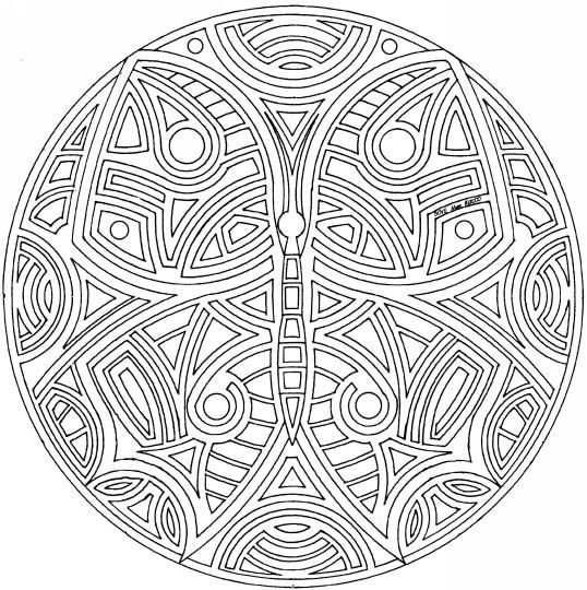 Mandala butterfly Coloring Pages | difficult coloring ...