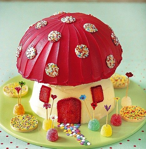 Pixie toadstool birthday cake