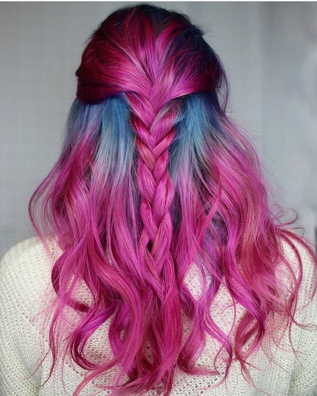Needful Things!  No lie. I need this color and style, stat! Hair by the equally beautiful  @kylierose_hairartist #hotforbeauty . . . . #pinkhair #pinkhaircolor #bluehair #braid #braids #braidideas #bohohair #bohochic