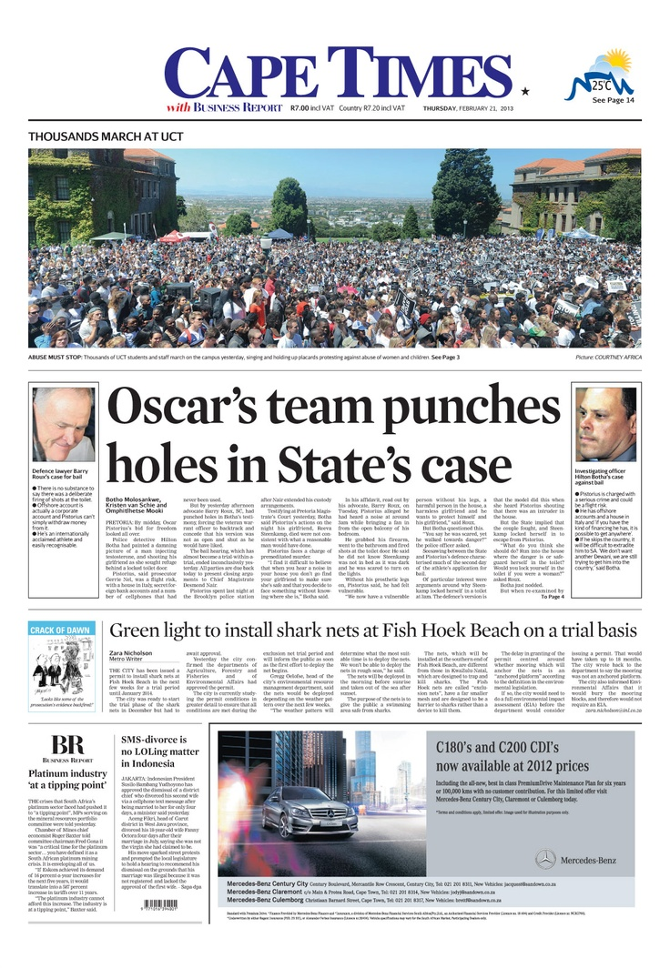 News making headlines: Oscar's team punches holes in State's case