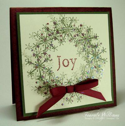 season of joy stampin upGreeting Card