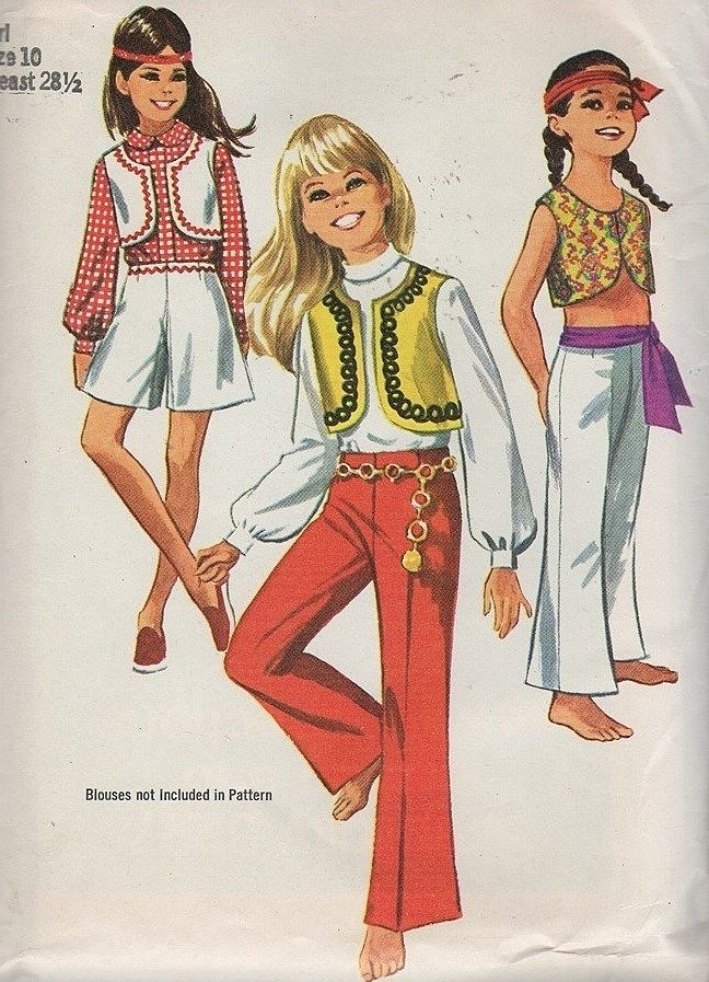 Vintage 1960 39 S Hippie Fashion Patterns Vintage Crafts Pinterest Fashion Patterns Fashion