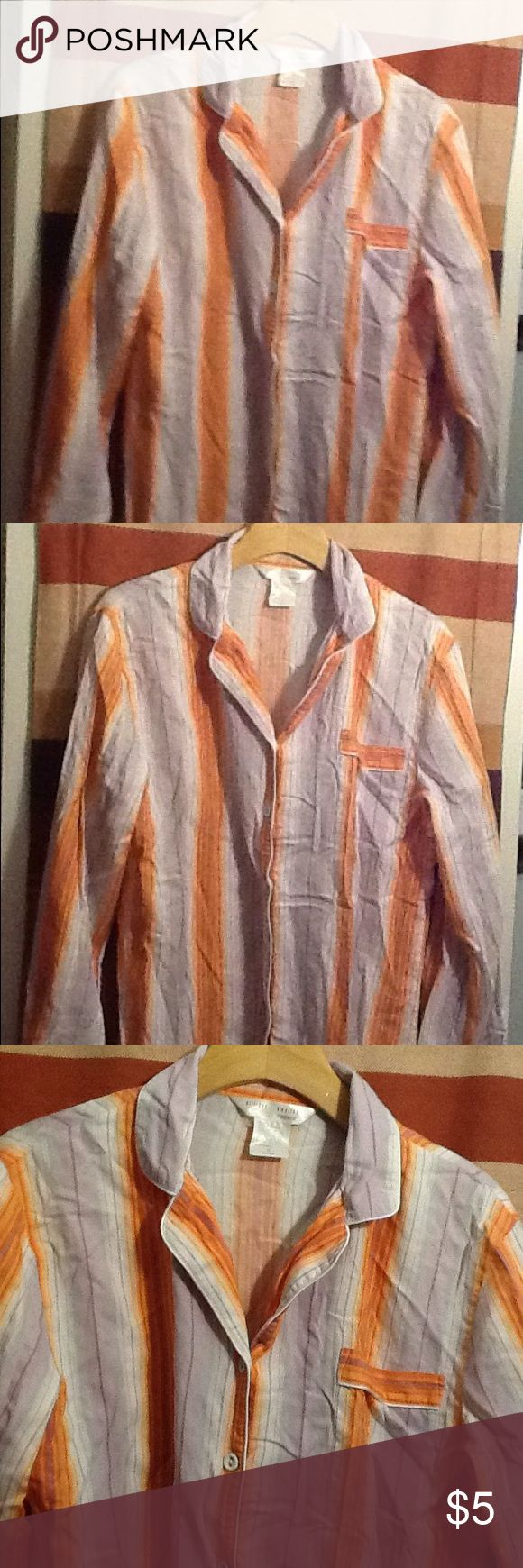Women's pajama top This is just a women's pajama top. It is a long sleeve button up. Gilligan & O'Malley Intimates & Sleepwear Pajamas