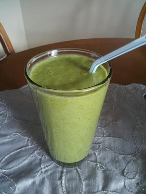 2 Bananas, 2 Handful Spinach, 2 Tbsp Peanut Butter & 1 Cup
