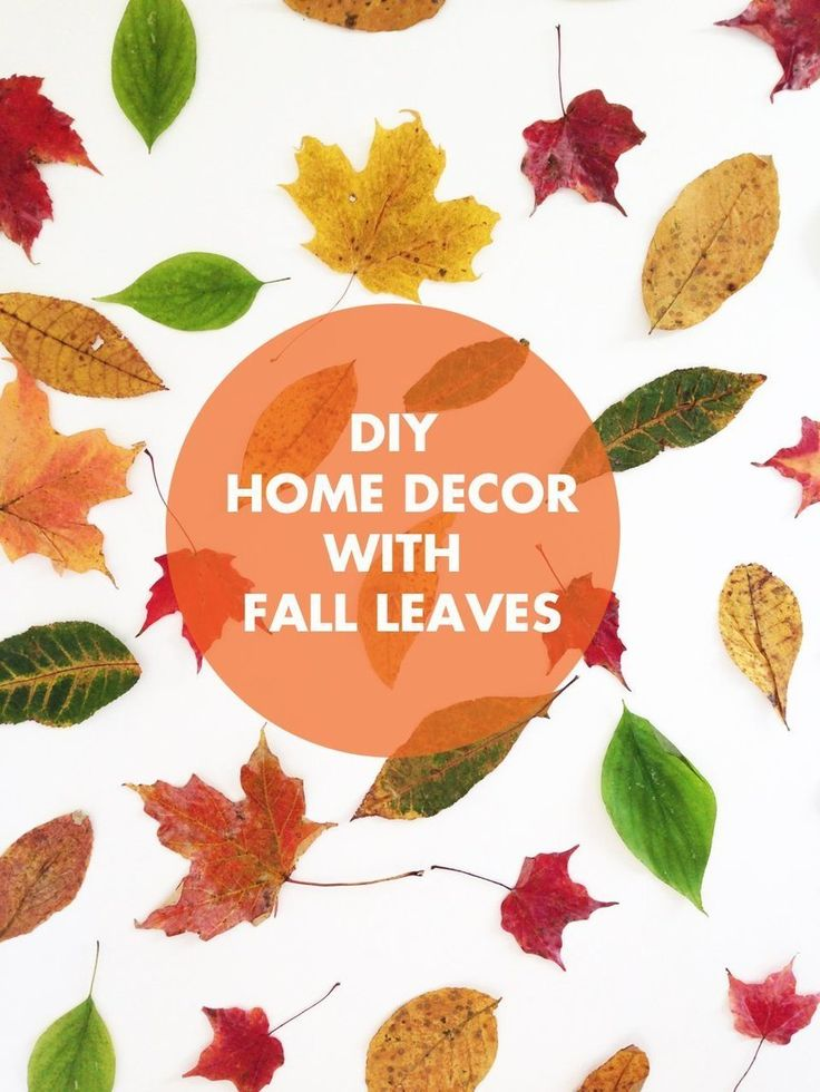 9 best images about fall decor on pinterest dreads for Autumn leaf decoration