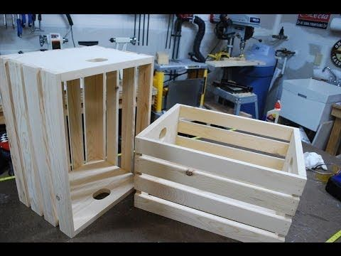 How to make wood crates youtube for Where can i buy wooden milk crates