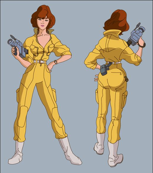 Someone be April O'Neil. Please.