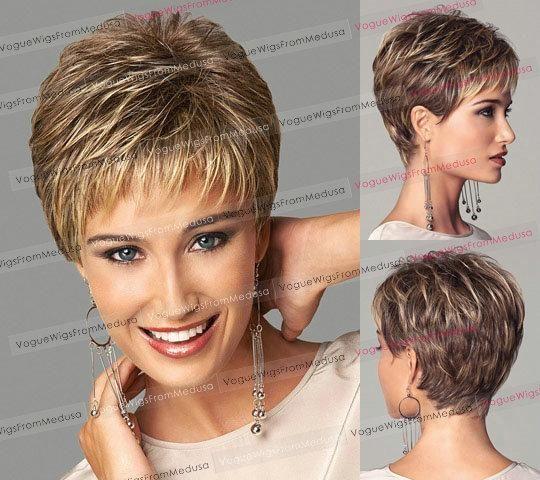 Moda europea y americana mujer rubia peluca mullida AliExpress adolescente pelo corto pelo corto venta al por mayor de la peluca entera