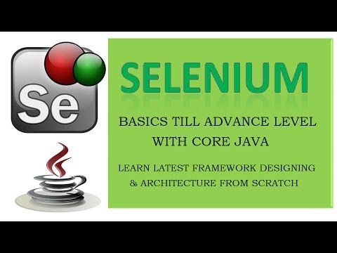 Lecture 1 - Core Java Introduction - Java essentials for Selenium - YouTube