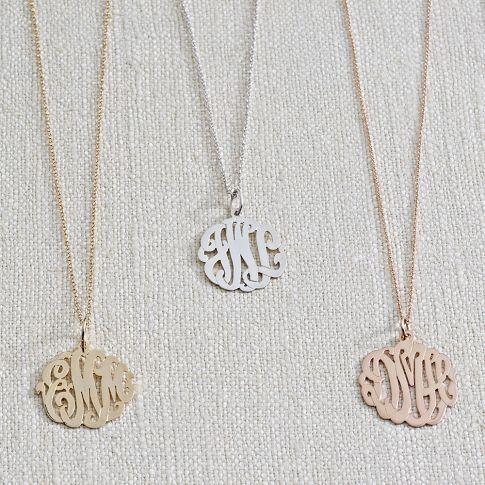 Monogram Pendant Necklace - Cursive | PBteen