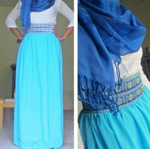 Hijab Fashion | Hashtag Hijab #Hijab #Fashion #style #blue #Kuwait #UAE #KSA #Jo #Qatar #repin