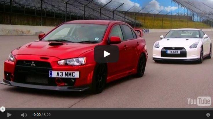 Nissan GTR vs Mitsubishi EVO FQ 400 2014