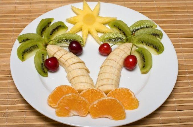 Ensalada de fruta tropical.