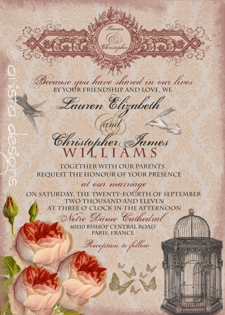 26 best simply classy invitations images on pinterest invitations whimsical french baroque vintage wedding invitation and rsvp sample lauren collection stopboris Choice Image
