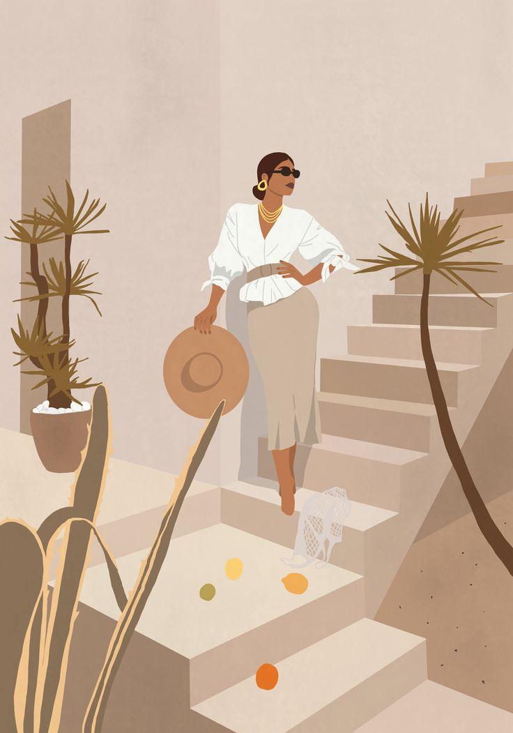 Pure Heat Shade Minimalist Summary Artwork Illustration Print