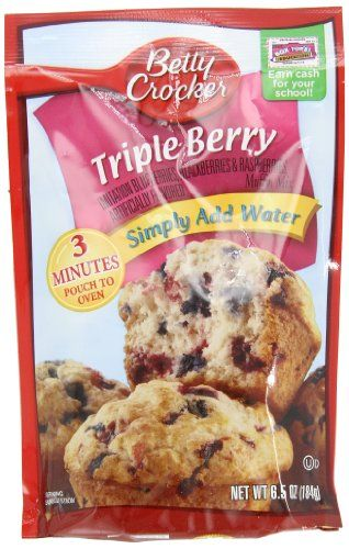 Betty Crocker Muffin Mix Triple Berry 65 oz Pouch Pack of 24 * For more information, visit image link.(This is an Amazon affiliate link and I receive a commission for the sales)