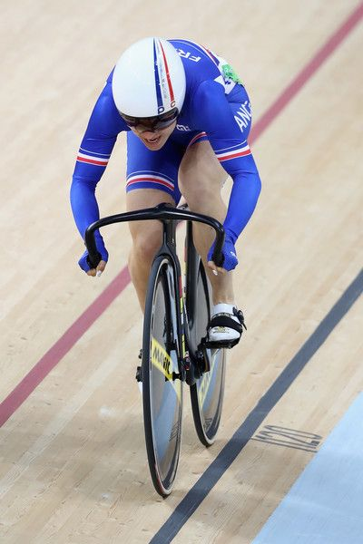 Sandie Clair of France rides in the Women's Sprint Qualifications on Day 9 of…