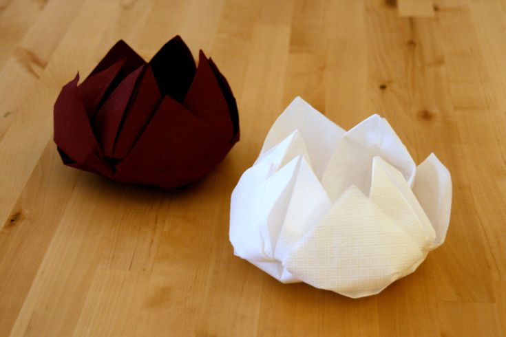Lotus Napkin Fold Easy :  arts napkin flower lotus lotus lotus flower lotus diy forward img