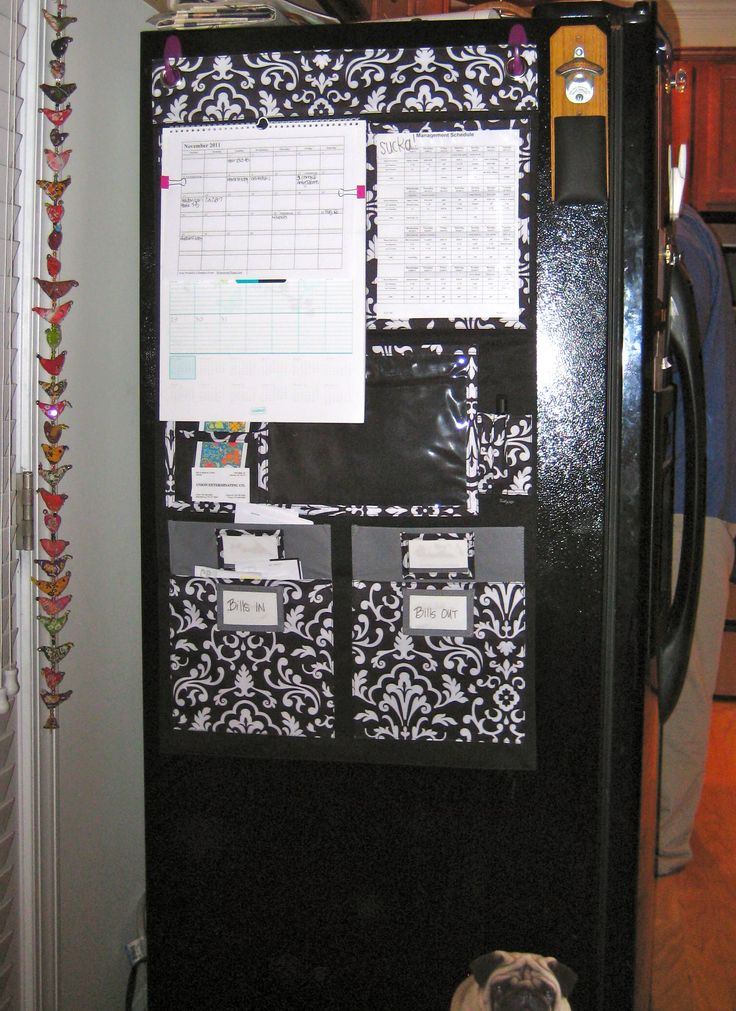 It's not just for the wall! Use magnets and the Hang-Up Home Organizer ($45) on that exposed side of your fridge to keep life in order