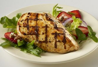 Strawberry-Lemon Chicken Salad with Fresh Mint and Pecans - Gold'n Plump