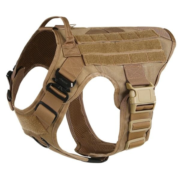 Tactical No Pull Dog Harness With Handle Working Dog Molle Vest