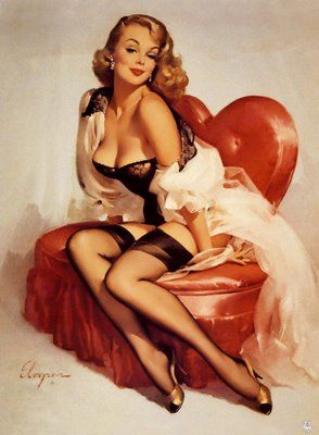 i think old school pin up's are so much more beautiful than today's boudior photos! agreed!
