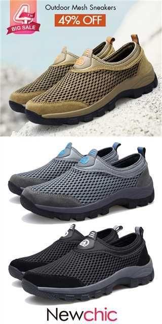 3a0fc86d4b79  US  38.85 Men Mesh Splicing Slip Resistant Outdoor Hiking Climbing  Sneakers  mensfashion  menswear  shoes