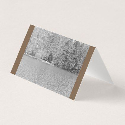 #Lake view blank business card - #office #gifts #giftideas #business