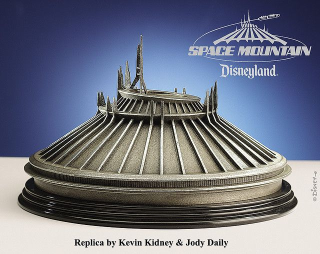 Disneyland Space Mountain Figurine by Kevin Kidney & Jody Daily