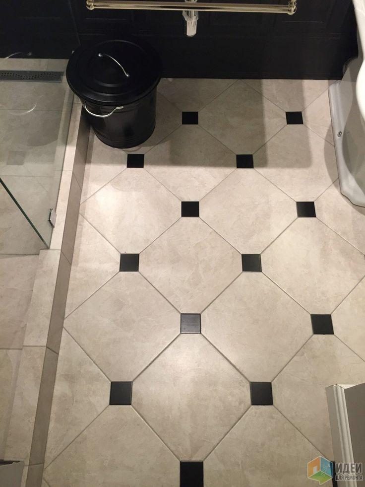 Серая ретро-классика - ванная комната
