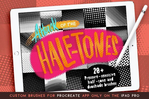 Procreate Half-tones by Ben Lew Illustration on @creativemarket #affiliate