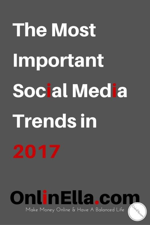 The Most Important Social Media Trends in 2017