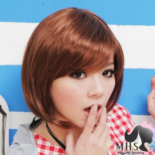 Short Full Wig - Wavy Caramel Coffee - One Size