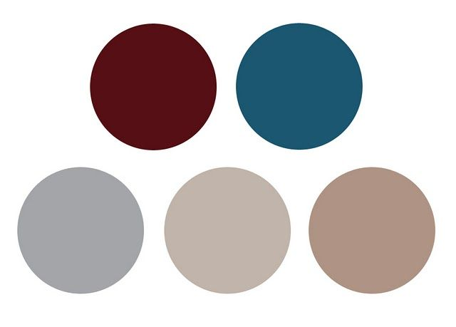 burgundy, blue & earth tones // except the lower right corner one