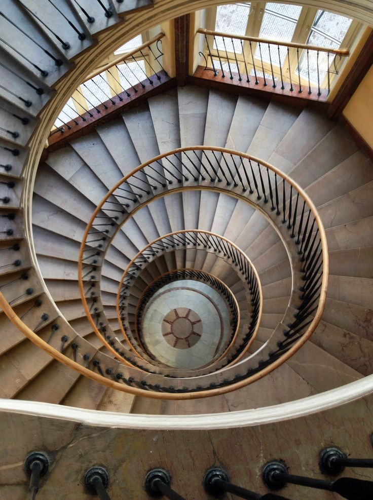 Spiral staircase warszawa poland awesome views for Architecture spiral staircase