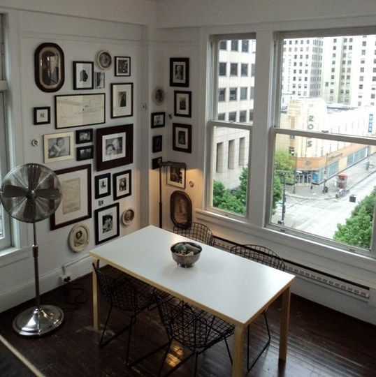 gallery walls: Office, Photo Walls, Apartment Therapy, Music Studios, Picture Frames, House, Room