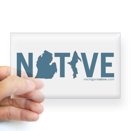 Michigan native bumper sticker