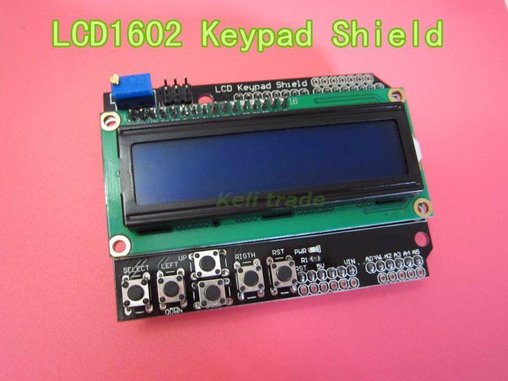new 1pcs LCD Keypad Shield LCD1602 LCD 1602 Module Display For Ardu ATMEGA328 ATMEGA2560 raspberry pi UNO blue screen