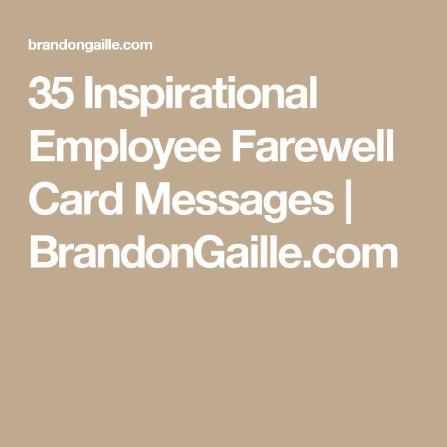 35 inspirational employee farewell card messages