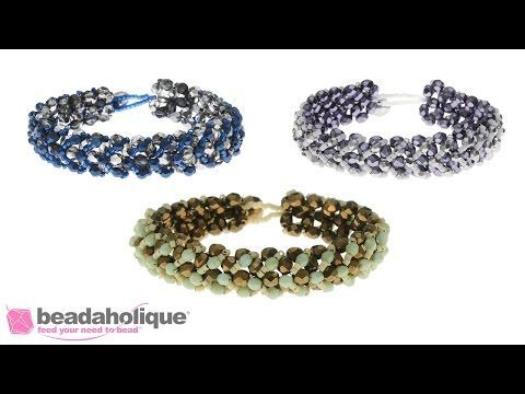 How to Make the Chevron Right Angle Weave Bracelet Kit ~ Seed Bead Tutorials