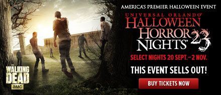 2-Park Bonus Halloween Horror Nights Ticket - Walking Dead