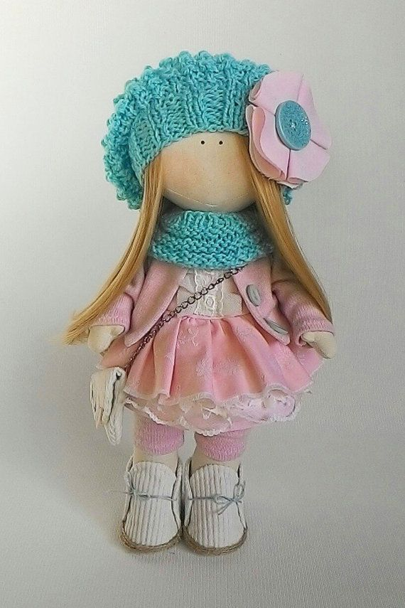 Art doll in removable clothes gift for girls by JuliettaDoll