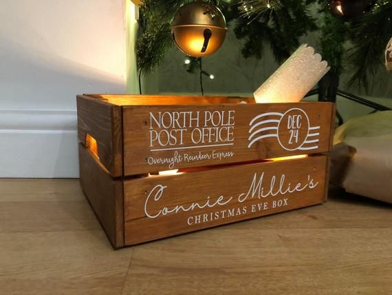 Personalised Christmas Eve Box Crate Christmas Hamper Etsy In 2020 Personalised Christmas Eve Box Christmas Eve Box Personalized Christmas