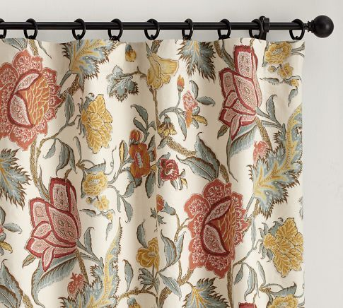 For the Master Bath: Cynthia Palampore Drape | Pottery Barn - inspiration for shower curtain