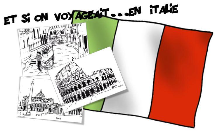 L'Italie : Rome et Venise ( Etape 3 du Loup qui … ) Toutes ces fiches sont bien sûr en lien avec l'album : Le Loup qui voulait faire le tour du monde ici. Vanelo, et Charlotte…