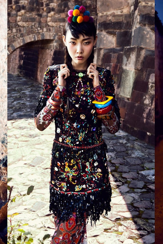 amazing images for Vogue Korea.  Fantastic colors and pattern.